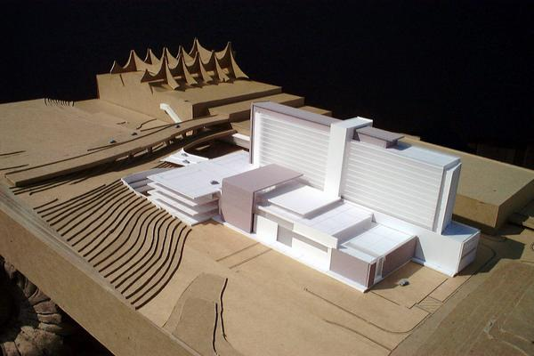 A model of the new hotel to be built at DIA