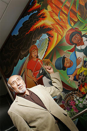 Leo Tanguma defends his murals.
