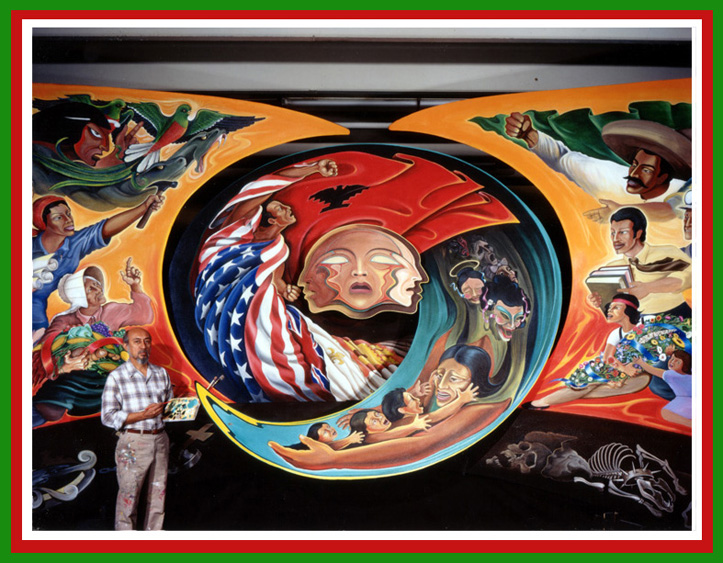 More murals by leo tanguma the dia conspiracy files for Denver international airport mural