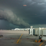Strange weather at DIA